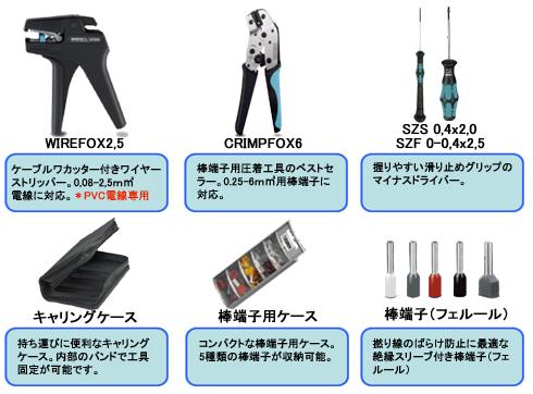 東通販取扱製品紹介 フェニックスコンタクト ユーロ端子用ツールセット【PC-1】