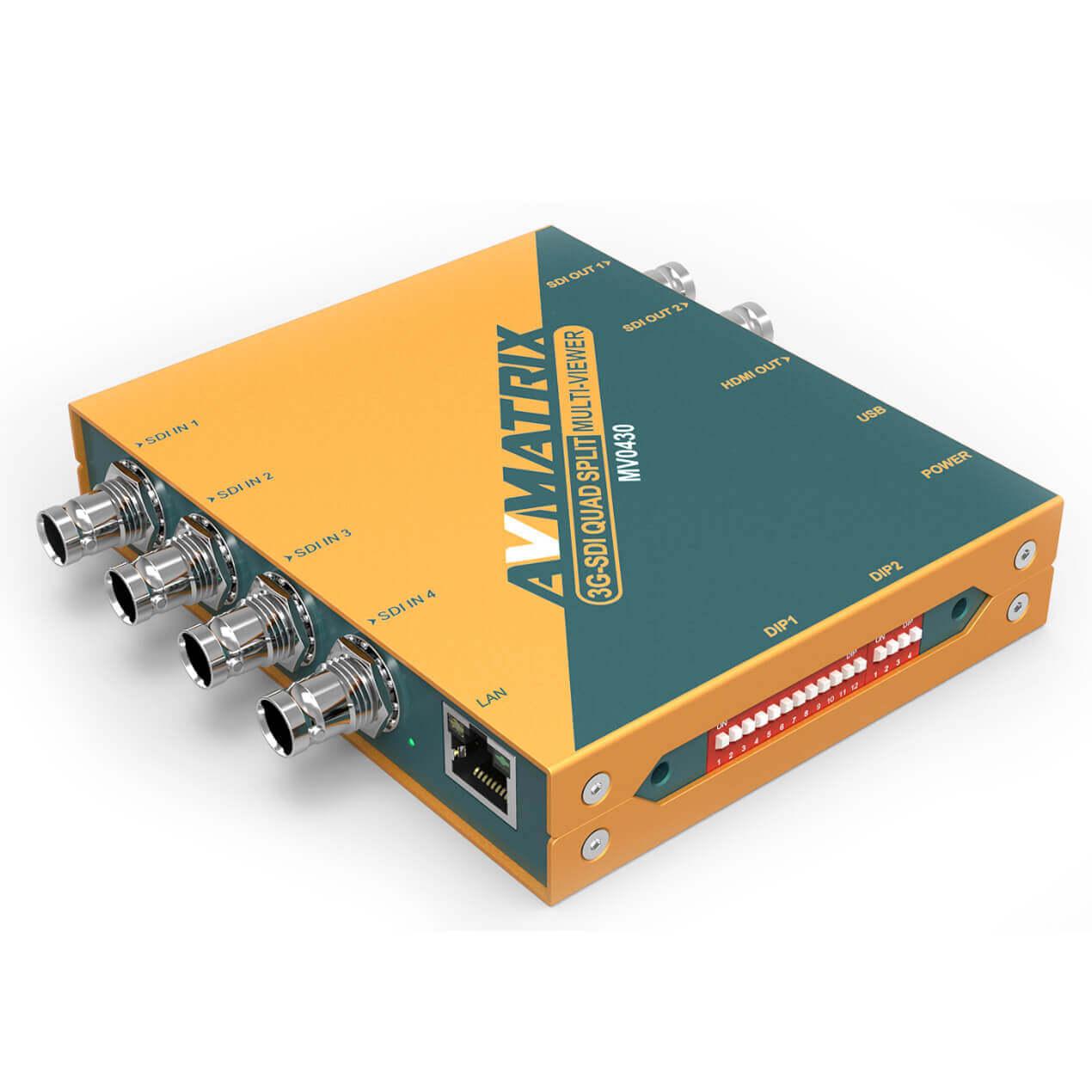 【2020.8月19日新発売】東通販取扱製品紹介 AVMATRIX社製 MV0430 4系統SDI入力マルチビューワー 【AM-8】