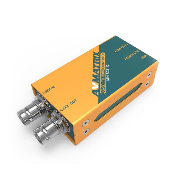 【2020.8月5日新発売】東通販取扱製品紹介 AVMATRIX社製 MINI_SC1112 3G-SDI to HDMI ミニコンバーター 【AM-3】