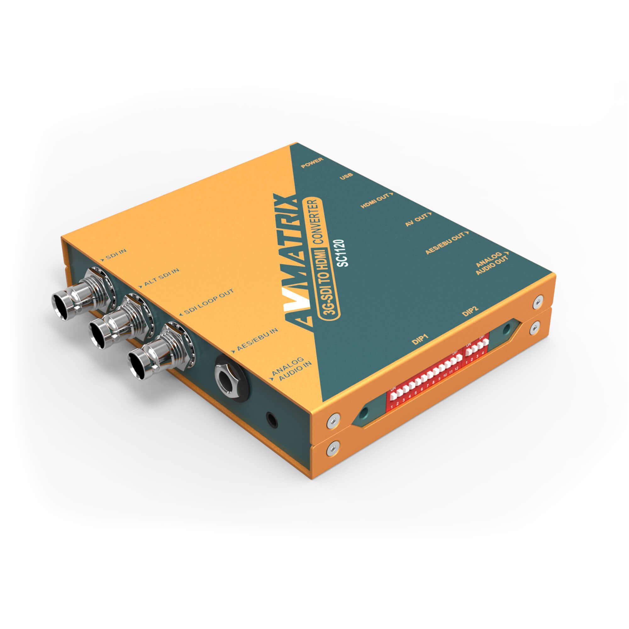 【2020.8月5日新発売】東通販取扱製品紹介 AVMATRIX社製 SC1120 3G-SDI to HDMI/ビデオ スケーリングコンバーター 【AM-5】