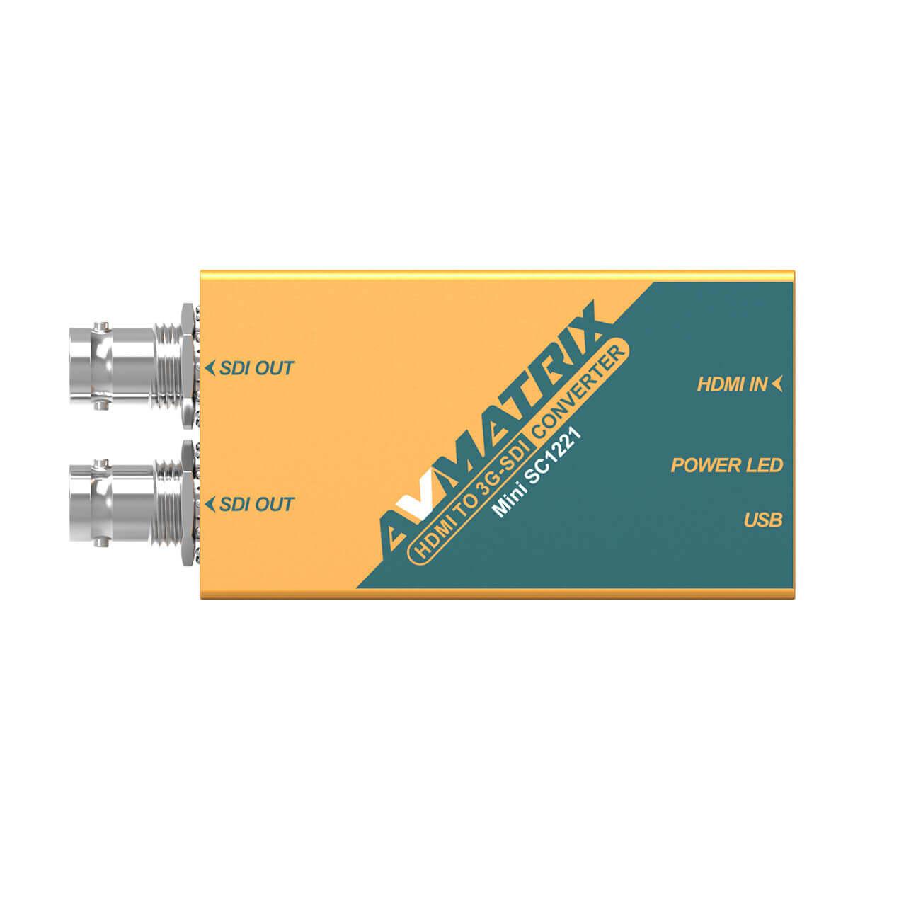 【2020.8月5日新発売】東通販取扱製品紹介 AVMATRIX社製 MINI_SC1221 HDMI to 3G-SDI ミニコンバーター 【AM-4】