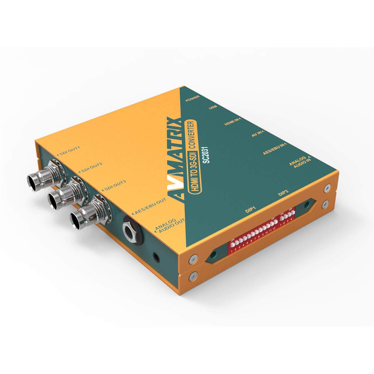 【2020.8月5日新発売】東通販取扱製品紹介 AVMATRIX社製 SC2031 HDMI/ビデオ to 3G-SDI スケーリングコンバーター 【AM-7】