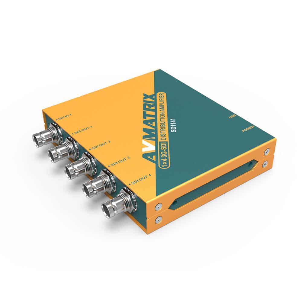 【2020.9月10日新発売】東通販取扱製品紹介 AVMATRIX社製 SD1141 リクロック搭載3G-SDI 4分配器 【AM-9】