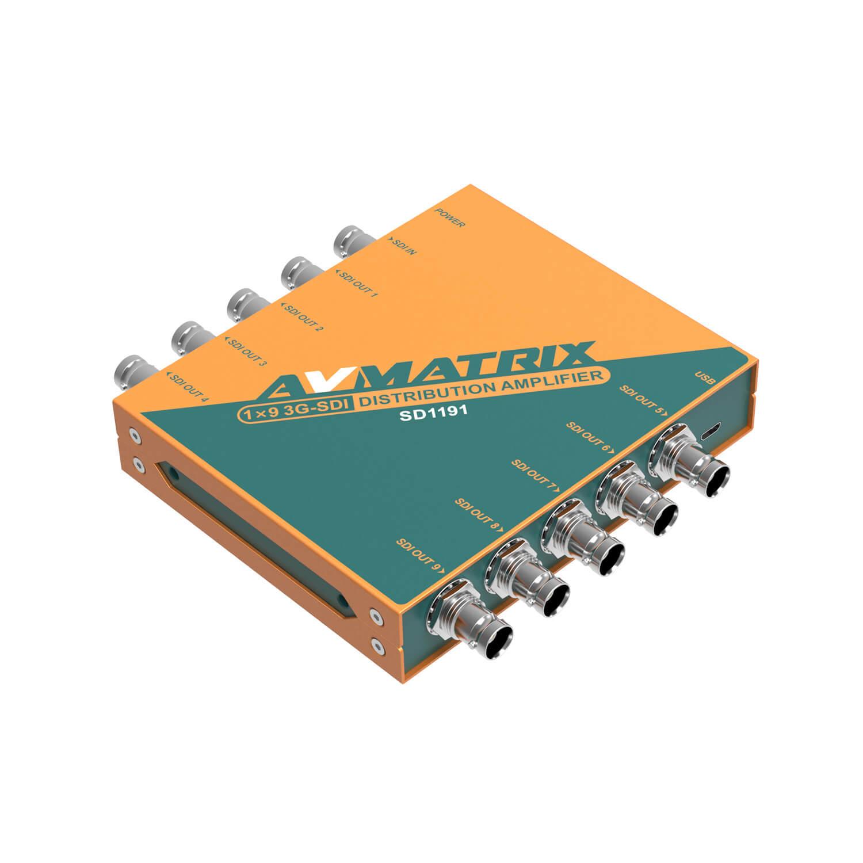 【2020.9月10日新発売】東通販取扱製品紹介 AVMATRIX社製 SD1191 リクロック搭載3G-SDI 9分配器 【AM-10】