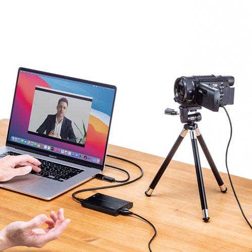 ビデオカメラをWEBカメラ化!映りを大画面で確認できるHDMIキャプチャー【サンワサプライ 新商品&おすすめ製品情報 2021年7月】