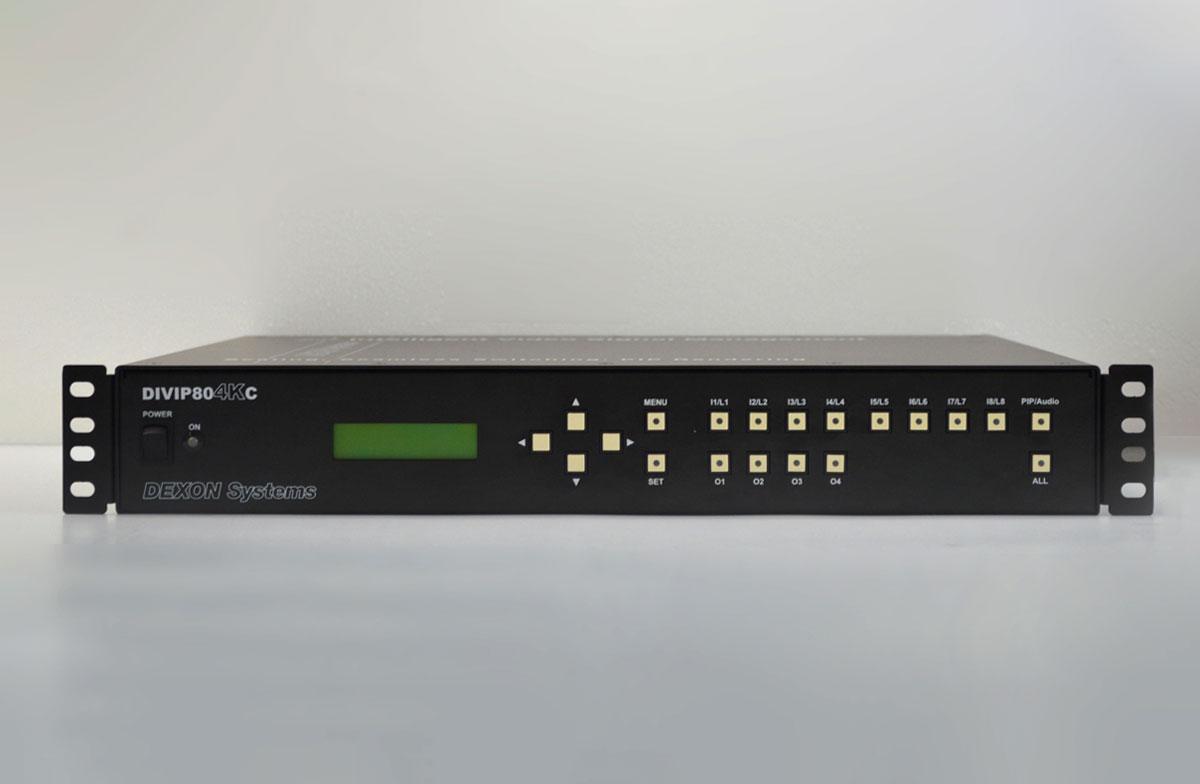 東通販取扱製品紹介 IDK社製 DIVIP804KC 4K@30 HDCP対応 ビデオウォールプロセッサ アイ・ディー・ケー【ID-1】