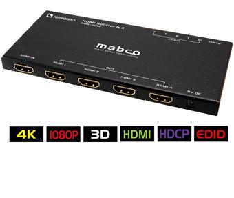 東通販取扱製品紹介 ADテクノ社製 HMS-0104  4K(3840x2160)@30 1080p60対応の超薄型HDMI 4分配器【AD-50】